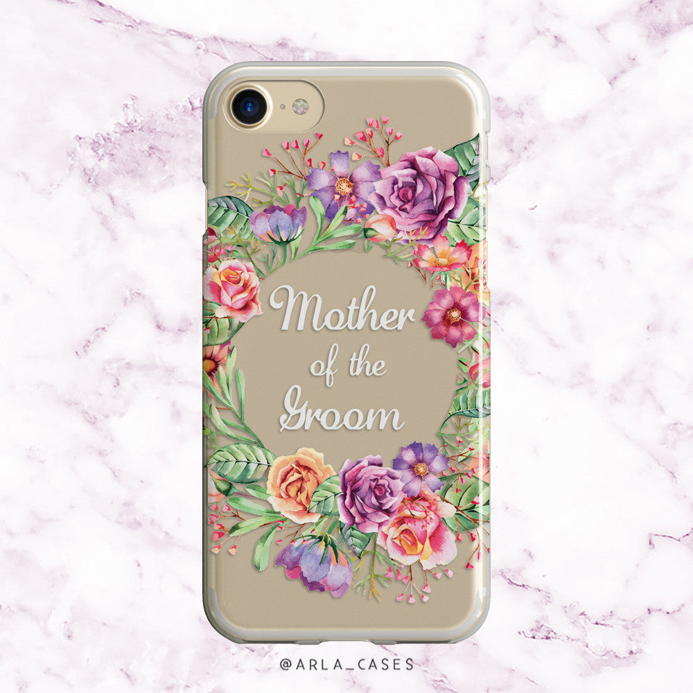 Mother of the Groom Flower Crown iPhone Case
