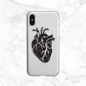 Human Heart - Clear Phone Case with Print