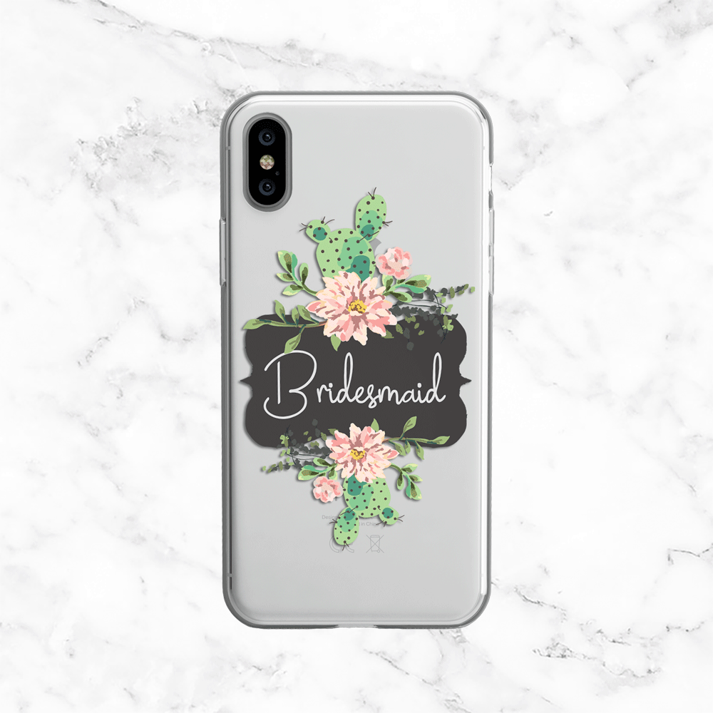 Blooming Cactus Bridesmaid Phone Case