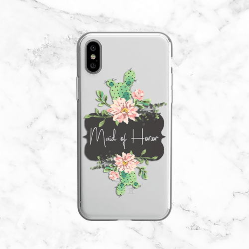 Maid of Honor Succulent Wedding Phone Case