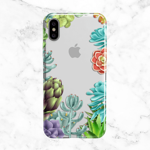 Succulent Collection Phone Case - Clear Printed TPU