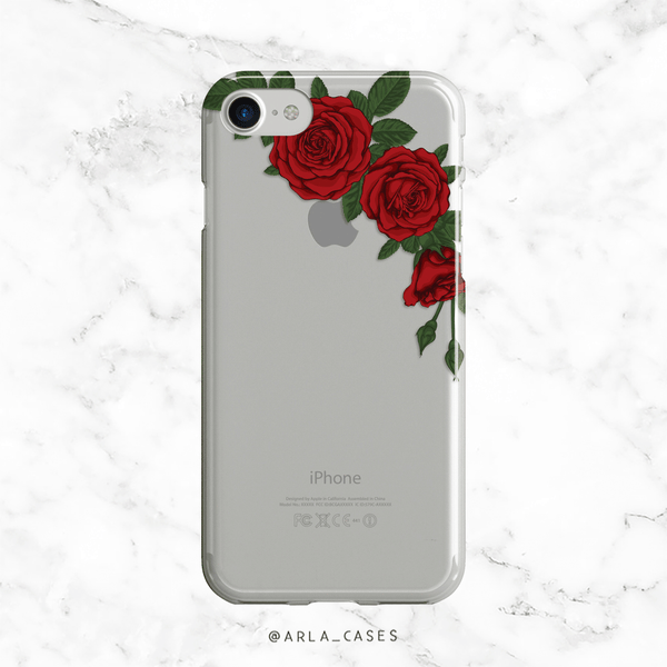 Roses Clear iPhone and Galaxy Phone Case