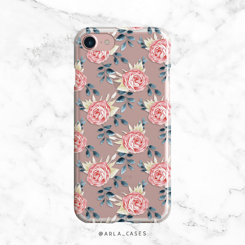 Custom Floral Wreath Monogram Phone Case