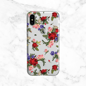 Red Rose Bouquets - Clear TPU Phone Case Cover