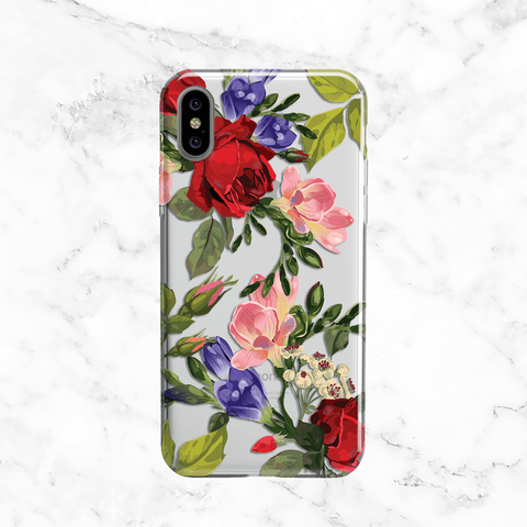 Red Rose Bouquet - Clear TPU Phone Case Cover