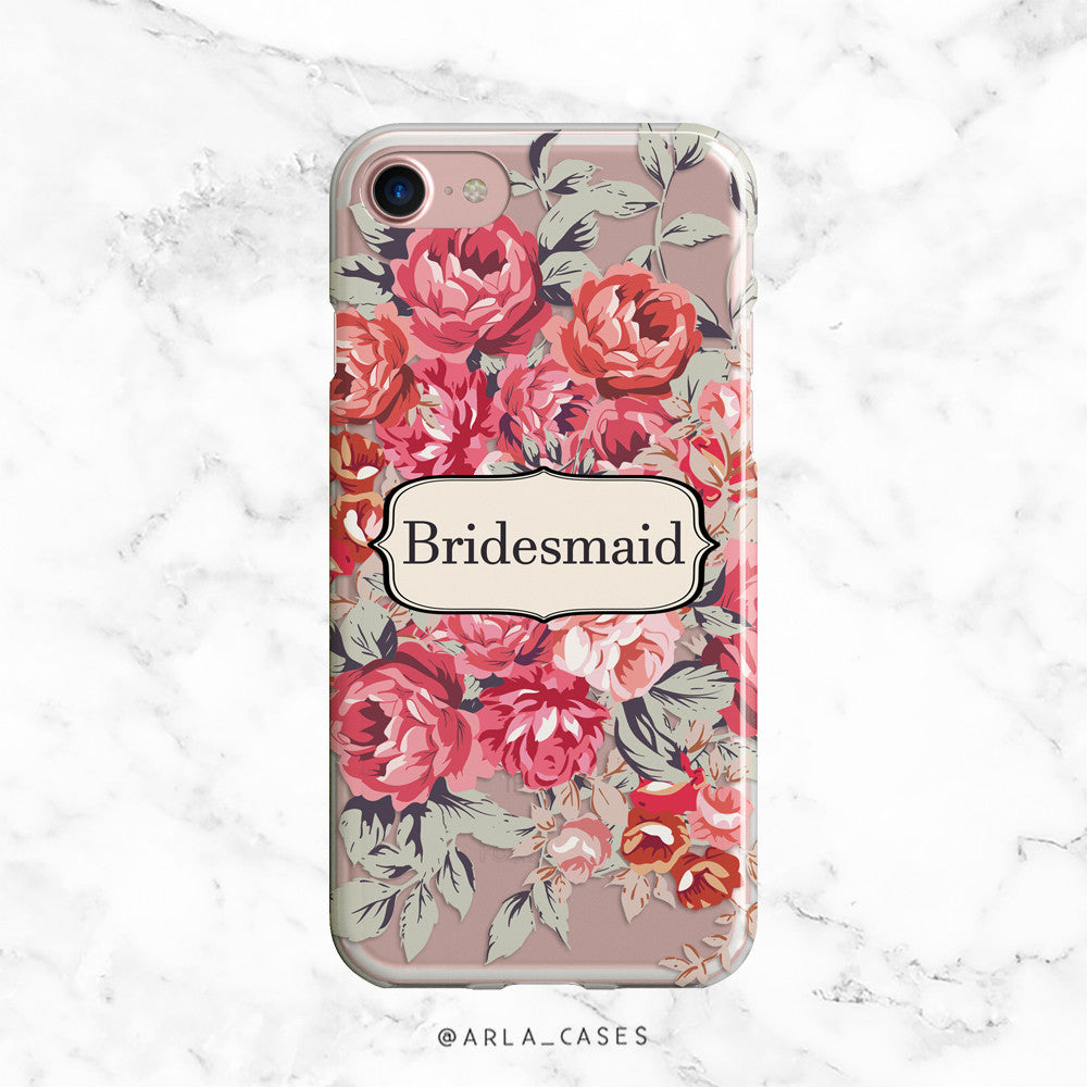 Shabby Chic Bridesmaid iPhone Case