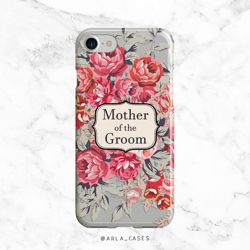 Shabby Chic Mother of the Groom iPhone Case