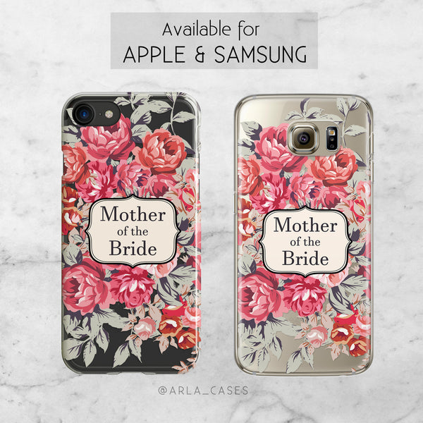 Shabby Chic Mother of the Bride Wedding Phone Case - Clear Printed TPU