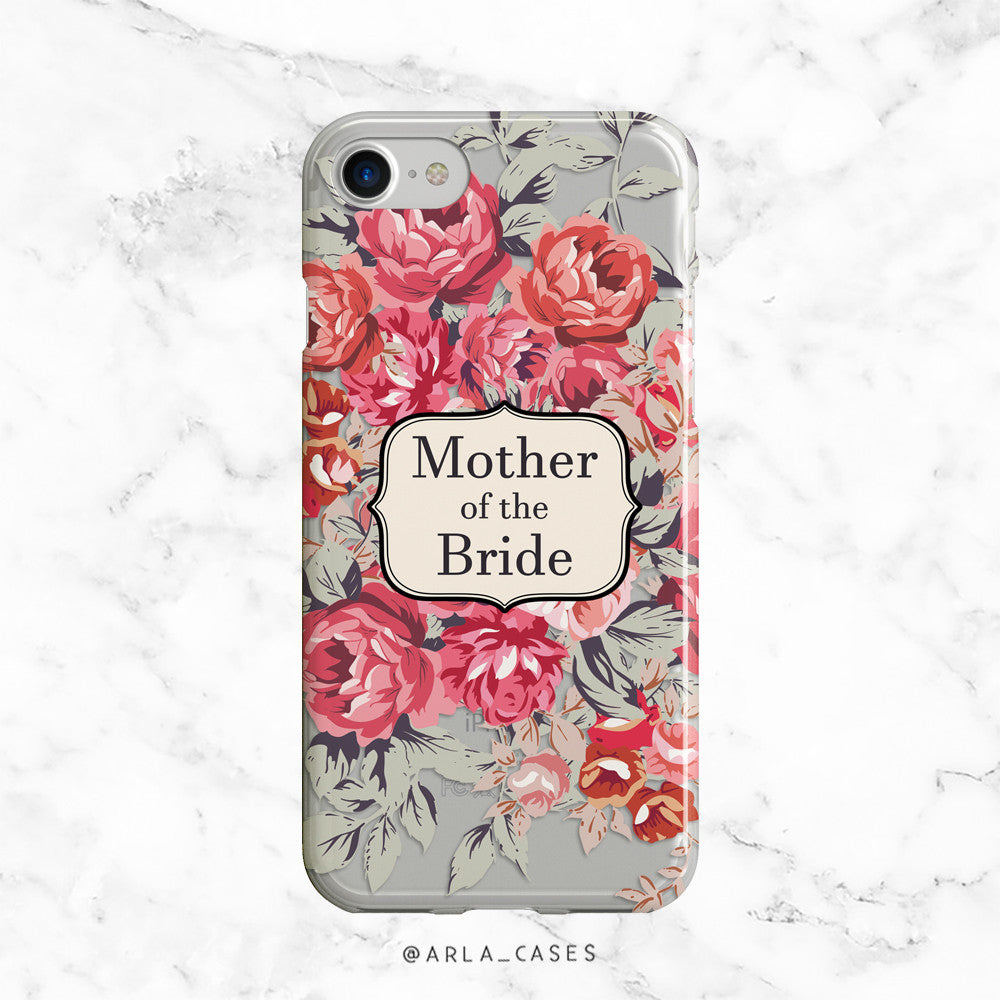 Shabby Chic Mother of the Bride iPhone Case