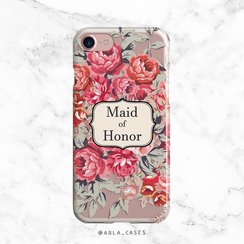 Shabby Chic Maid of Honor iPhone Case