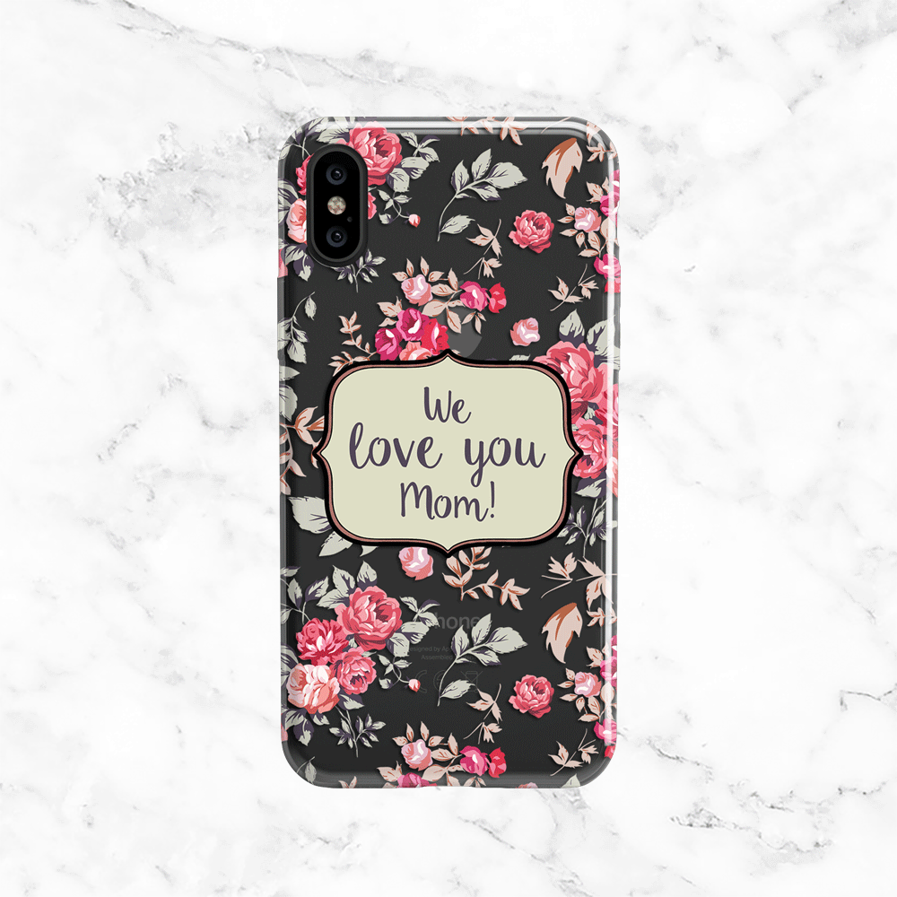 Mother's Day Shabby Chic Phone Case - Clear Printed TPU