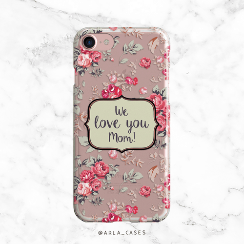 Rose Flowers Mom Clear iPhone and Galaxy Phone Case
