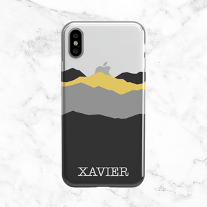 Custom Mountain Range - Clear Printed TPU Case