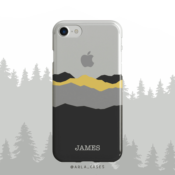 Custom Name Mountains Clear iPhone Case