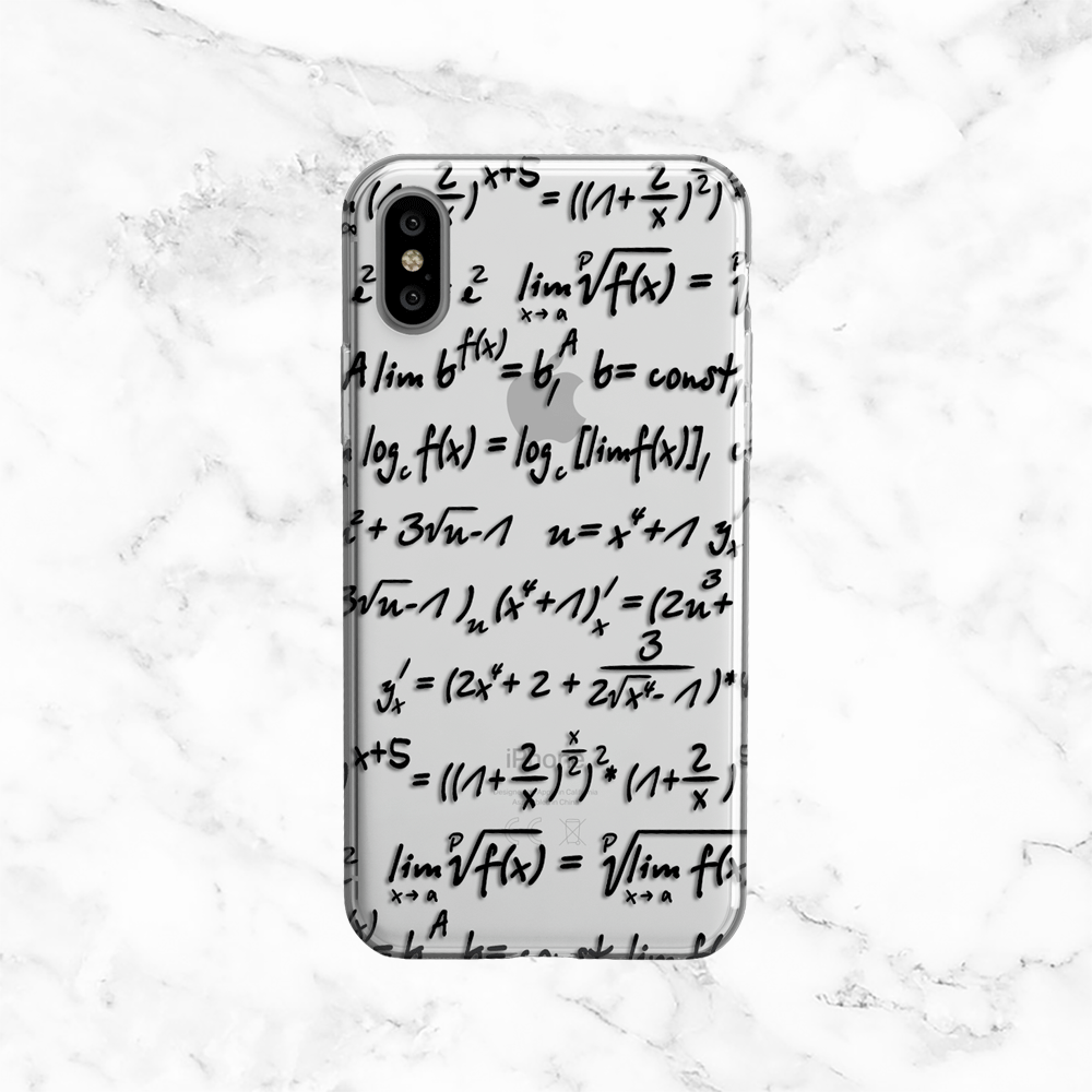 Math Equations - Clear Phone Case with Print