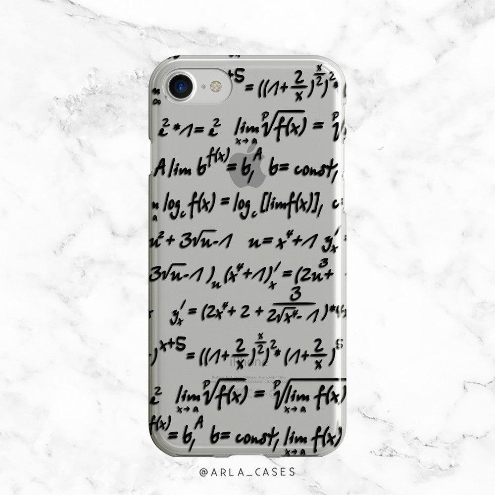 Math Equations Clear iPhone Case