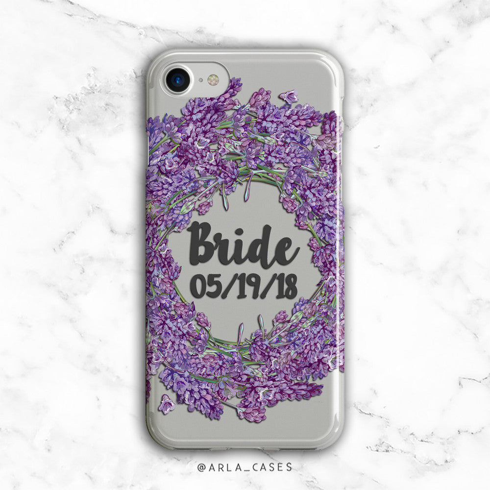 Custom Lavender Bride iPhone Case