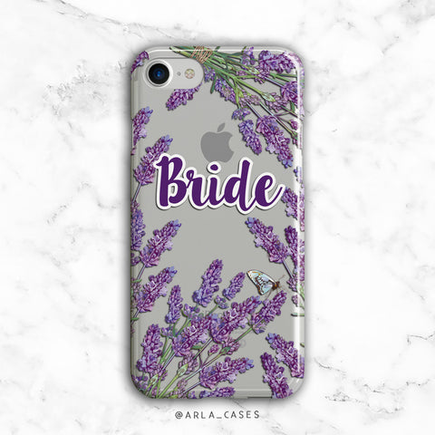 Bride - Wedding / Bridal Silver Glitter Phone Case