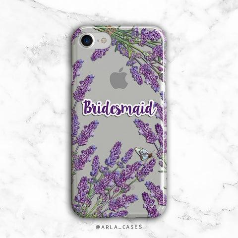 Bridesmaid Lavender iPhone Case
