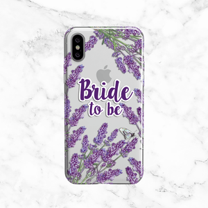 Bride to Be Lavender Wedding Phone Case