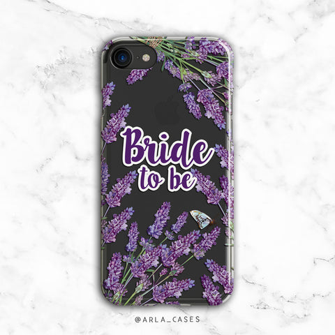 Bride to Be lavender iPhone Case