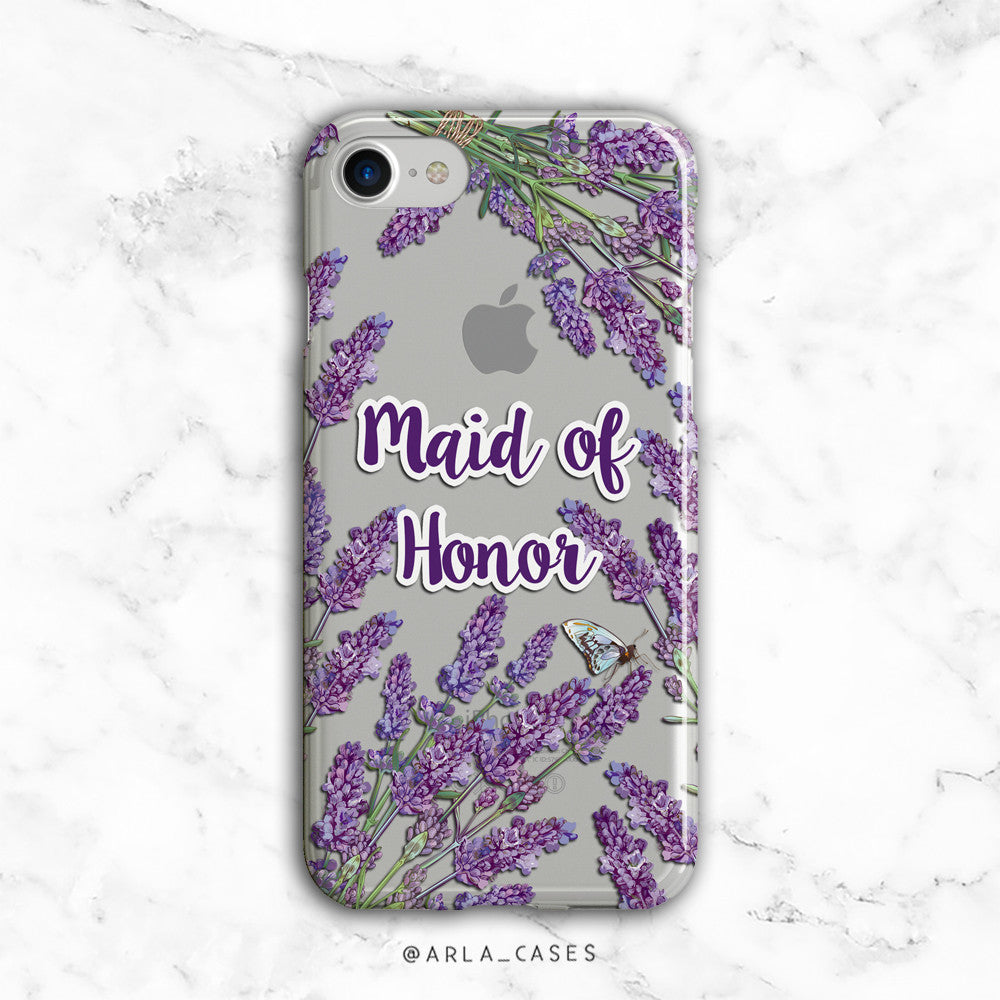 Maid of Honor Lavender iPhone Case