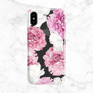 Pink Peonies - Clear TPU Case