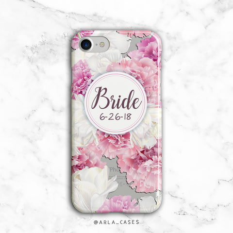 Custom Peony Bride iPhone Case