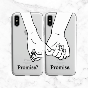 Couples Pinky Promise Phone Case Set