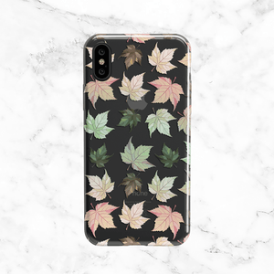 Pastel Autumn Leaves Phone Case