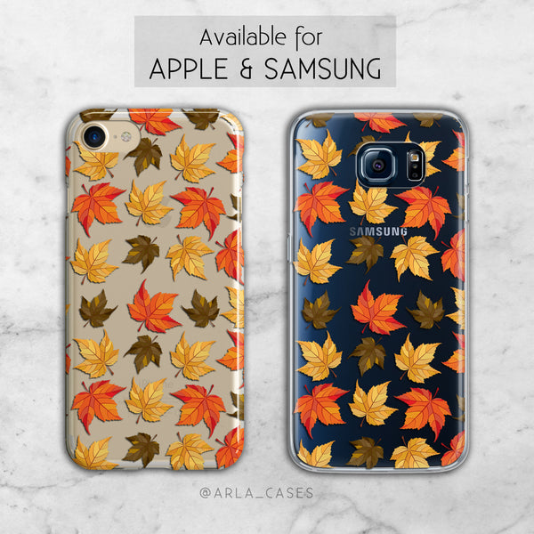 Autumn Leaves Clear Phone Case