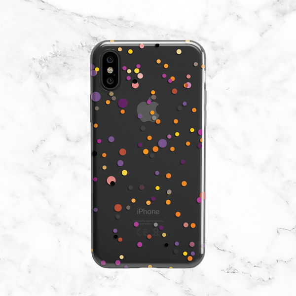 Halloween Polka Dots - Clear TPU Phone Case