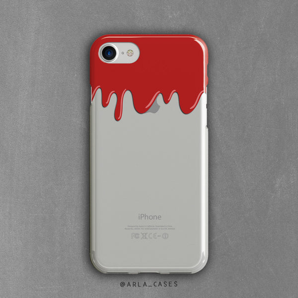 Vampire Blood Halloween Clear iPhone Case