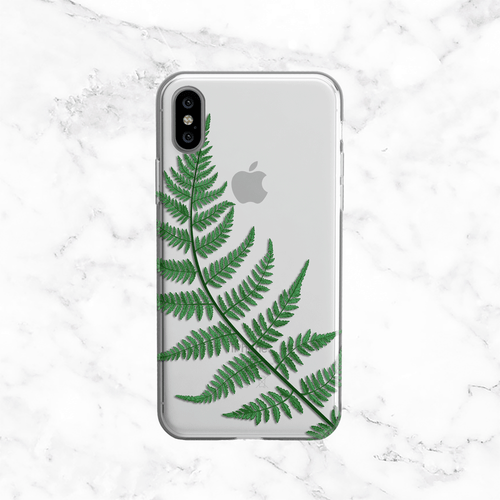 Forest Fern Leaves Clear Phone Case