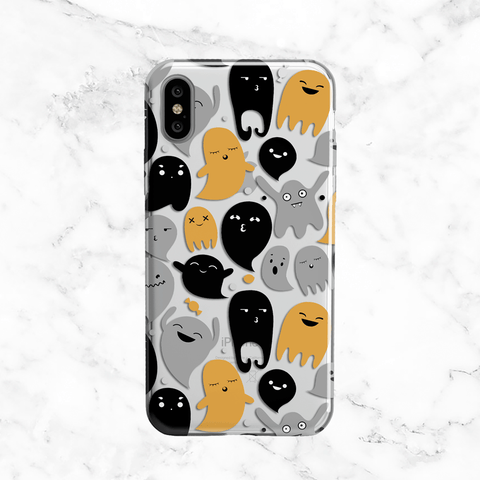 Halloween Ghosts- Clear TPU Case