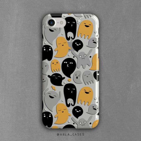Halloween Ghosts Clear iPhone and Galaxy Case