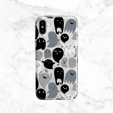 Halloween Ghosts - Clear TPU  Case