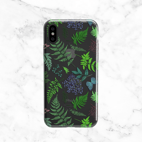 Forest Ferns Clear Phone Case
