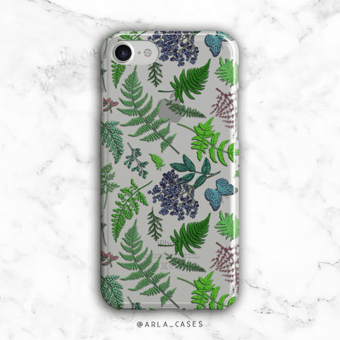 Forest Ferns Clear iPhone and Galaxy Phone Case
