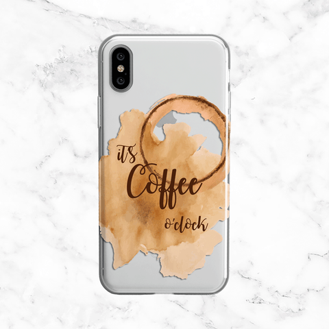 Coffee Time Phone Case - Clear TPU Case