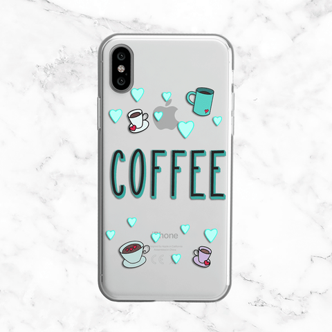 Coffee Love - Clear Print TPU Phone Case