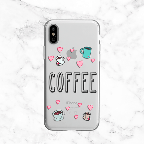 Coffee Lover - Clear Print TPU Phone Case