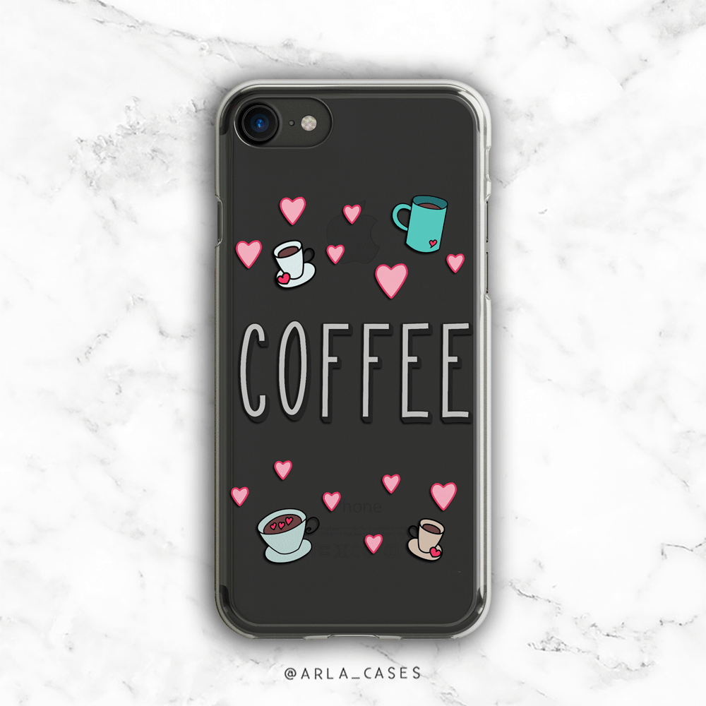 Coffee Lover Clear iPhone and Galaxy Phone Case