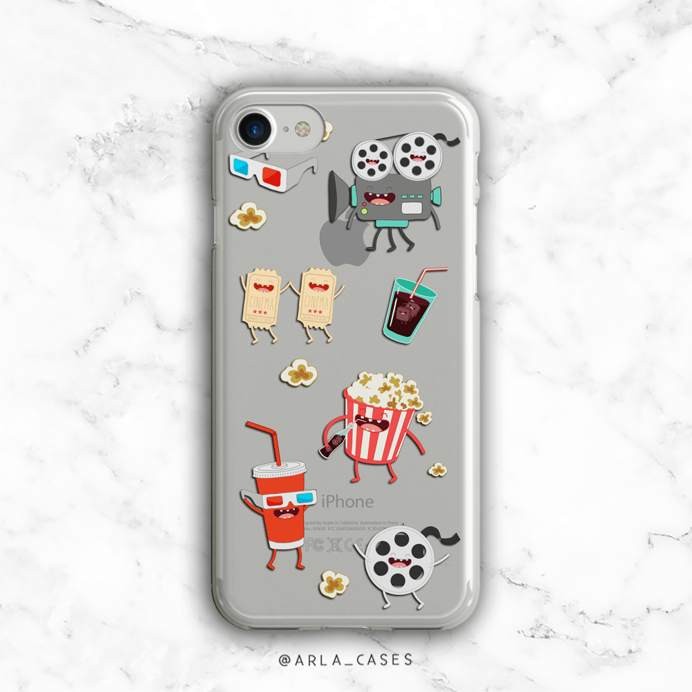 Movie Cartoons Clear iPhone and Galaxy Phone Case