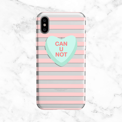 Can U Not - Valentine's Day Clear Phone Case