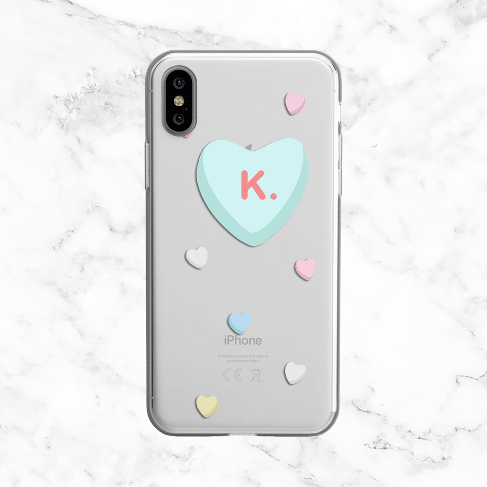 K. - Valentine's Day Clear Phone Case
