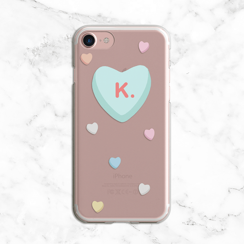 K. Valentines Day Clear Phone Case