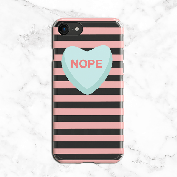 Nope Valentines Day Clear Phone Case