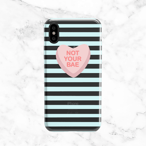 Not Your Bae - Valentine's Day Clear Phone Case