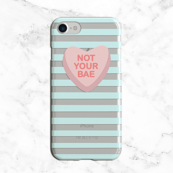 Not Your Bae Valentines Day Clear Phone Case
